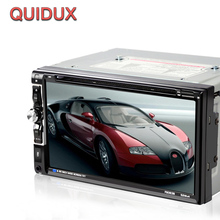 QUIDUX 6.95 inch 2 Din Car DVD MP3 player Fixed Panel Universal Car Multimedia Player With Radio Receiver Bluetooth TV Tuner