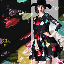 2015 and the wind Paris dancing girl double jacquard fabric / garment fabric of small fragrant ladies dress