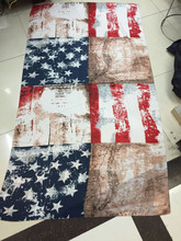 Free Shipping!2014 New Coming Vintage American Flag Scarf Soft Fashion Tie-Dyed Women Wrap USA Scarf Big Size 220cm*90cm(China)