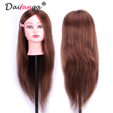 Professional 60cm Hairdressing Dolls Head Female Mannequin Hairdressing Styling Training Head Nice High Quality Mannequin Head(China)