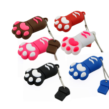 mini Cute Bear paw footprint 4GB 8GB 16GB 32GB 64GB usb 2.0 flash drive/creativo pendrive/creativo memory Stick/Disk/Thumb Gift