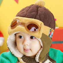 DreamShining Baby Hat Winter Warm Cap Cool Newborn Photography Baby Boy Girl Hats Kids Infant Pilot Cap Beanie Accessories