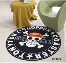 Black Skull Round Mat 60/80/100/120/160CM alfombras dormitorio Carpet Living Room Deurmat rugs Swivel chair Mats tapis chambre