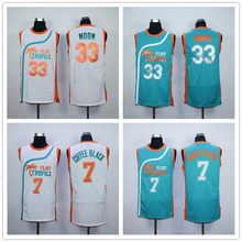 Semi Pro Flint Tropics 33 Jackie Moon 7 Coffee Black Basketball Jerseys White Green S-XXL Free Shipping