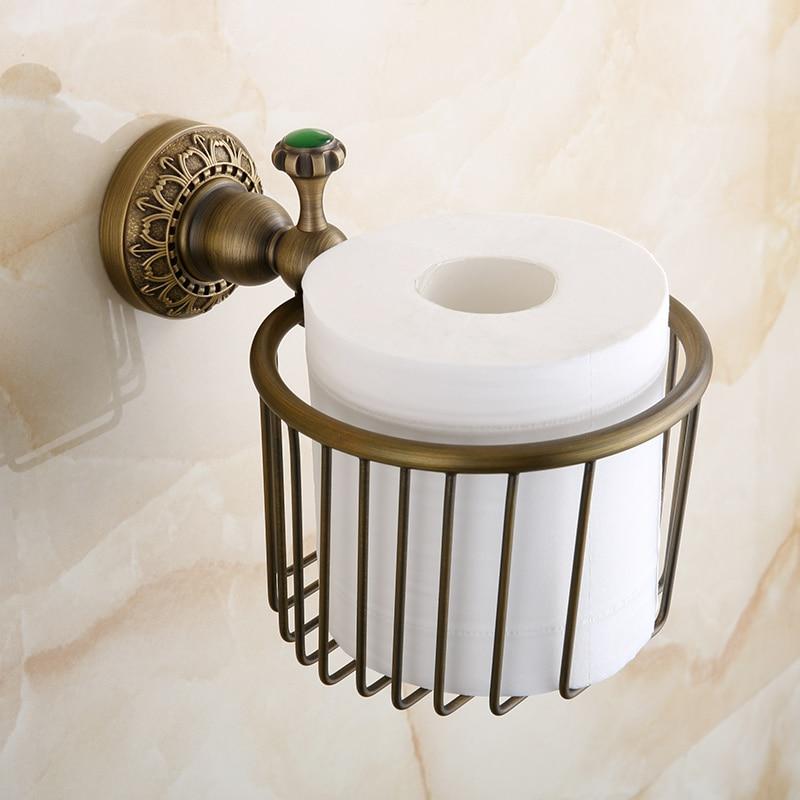 Beelee BA8313A Tissue Holder Antique Brass Solid Brass Storage Shelf Bathroom shelf Wall mouted Toilet Paper Holders<br><br>Aliexpress