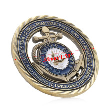 1PC Commemorative Zinc Alloy U.S. Navy Commemorative Challenge Coin Art Collection Physical Collectible Gift