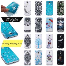 Ultra-Thin FasHion PainTed PaTTeRn SiLiCone SoFt Cover For Samsung I9190 Galaxy S4 mini WaVy AnTi SLip DeSiGn CeLL Phone Cases