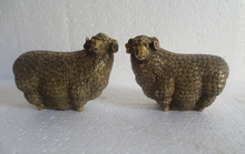 Metal Crafts A pair chinese  feng shui brass brings wealth sheep goat  statue  free shipping