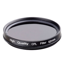 RISE(UK) 52MM CPL PL-CIR Polarizing Filter for DLSR 52mm lens free shipping