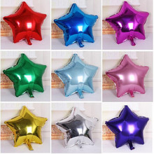 10Pcs/bag Five-Pointed Star Helium Foil Multi-color Balloon Christmas Birthday Wedding Party Decoration Children Toy Present