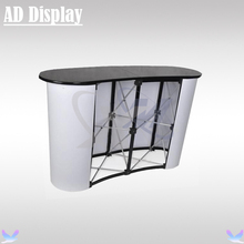 2*2 High Quality Curve Shape Portable Promotion Exhibition Display Pop Up Table,Trade Show Pop Up Podium Counter(China)