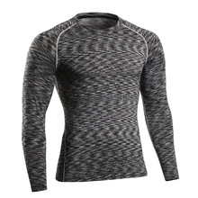 Buy 2016 autumn winter Men long sleeve T-SHIRT thermal underwear Breathable quick dry clothes skinny thigh undershirts High-Elastic for $12.42 in AliExpress store