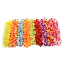 1Pcs Hot Sale Party Beach Tropical Flower Necklace Hawaiian Luau Petal Leis Festival Party Decorations Wedding Supplies(China)