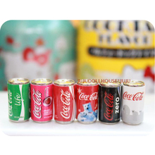 6PCS Mini Coke Miniature Dollhouse Doll Food Drinks Beverage Play Food Toy for 1/6 BJD(China)