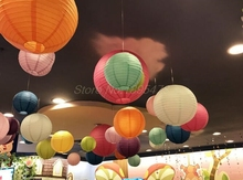 50pcs/lot colorful Color style paper lanterns wedding lanterns paper lampshade holiday party supplies(China)