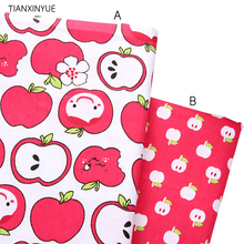 Apple meter fabric 95% Cotton Fabric quilting Baby Cloth Kids bedding patchwork tissue home Textile Sewing friut fabric(China)
