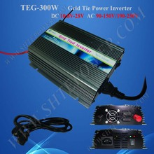 300w grid tie power inverter 12V/24v dc input voltage to ac 190-260v output for 220vac, 230vac, 240vac countries