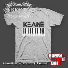 Keane Alternative rock Band Keyboard Piano Short-sleeve T-shirt Tee T(China)