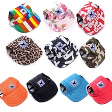 Tailup Pet Hat Dog Hat Baseball Hat Summer Canvas Dog Cap Only For Small Pet Dog Outdoor Accessories Outdoor Hiking Sports(China)