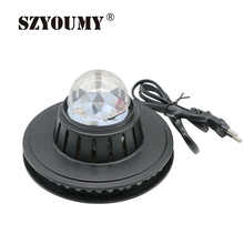 SZYOUMY NEW Product Voice Control Mini Rotating RGB Light 48 LEDs Sunflower LED Stage Light For Party Bar hotel DJ Holiday(China)