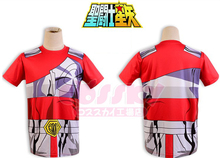 Anime 3D Sublimation!Saint Seiya Bronze/Gold Myth Cloth print Cosplay t-shirt Summer tshirt in stock free shipping 2016(China)
