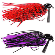 1pcs Soft Silicone Beard Weedless Jig Head Fish Lure 10g octopus squid Bait Isca Artificial Fishing Tackle(China)