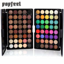 Popfeel Love Beauty Female 40 Colors Cosmetic Powder Matte  Shimmer Eyeshadow Palette Eyes Makeup Set 161025 Drop Shipping
