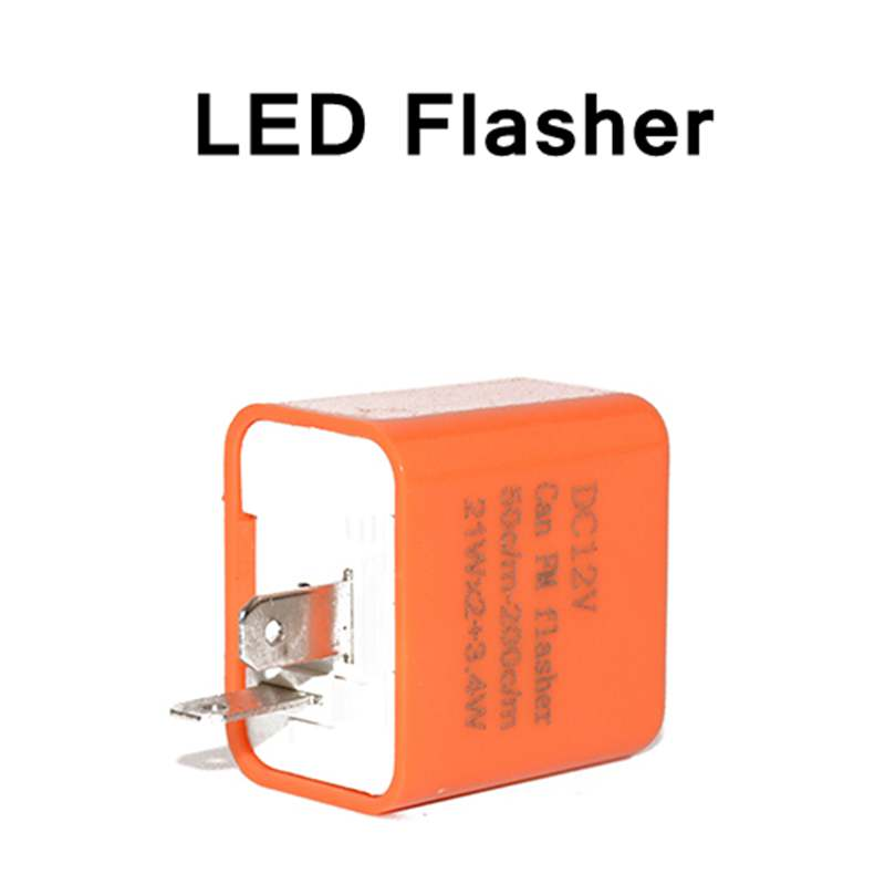 12V 2-Pin Motorcycle Blinker Adjustable LED Flasher Relay Turn Signal Indicator