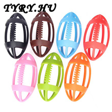 10pc Rugby Teethers Infant Toddler Rubber Teething Toys BPA Free Food Grade Silicone Olives Ball Beads Baby Shower Nursing Gifts
