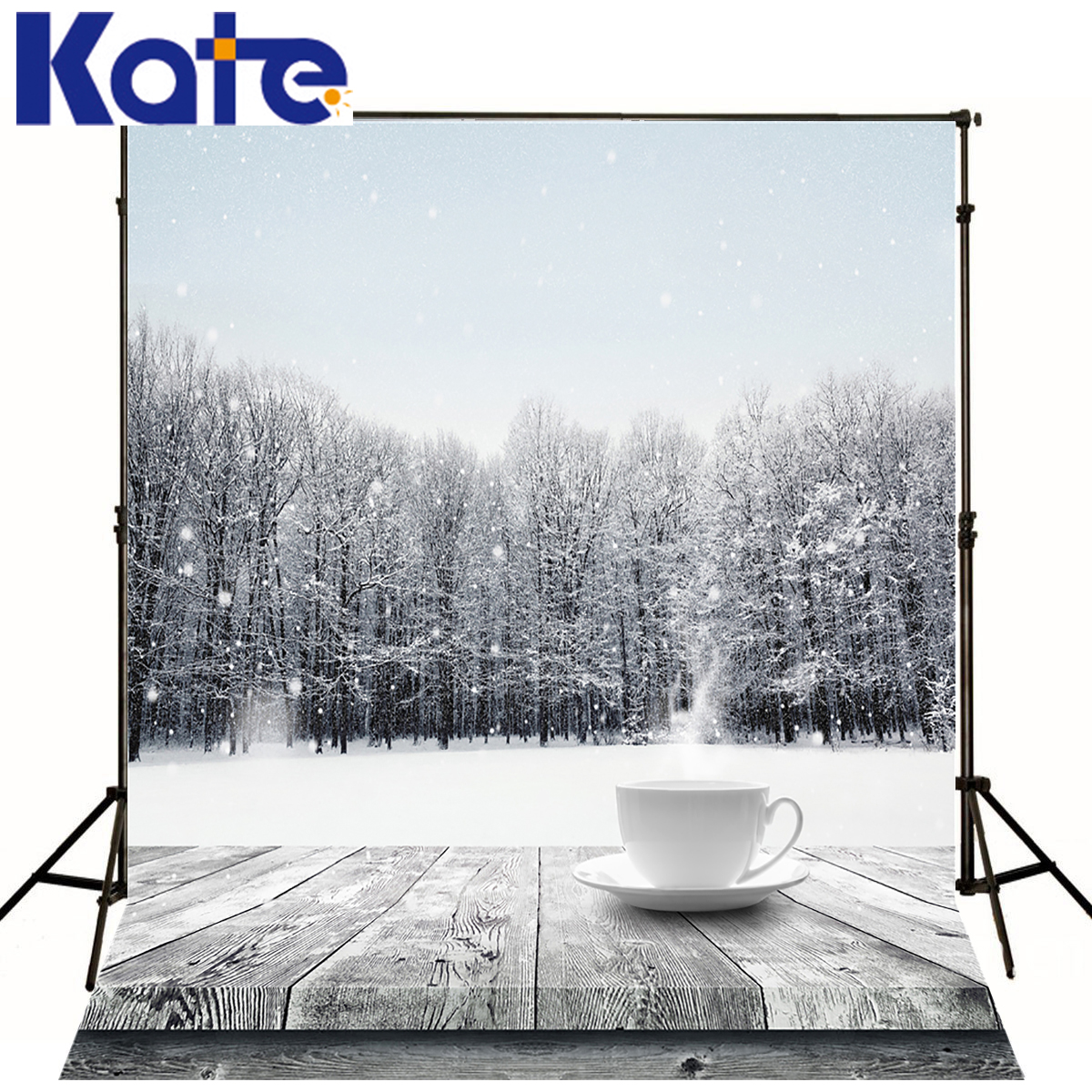KATE Photo Background Coffee Wood Table Floor Backdrop Scenery Background Fall Spot Forest Backgrounds For Photo Shoot Studio<br>