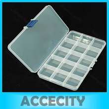 5 Pcs/Lot Portable Plastic Nail Art Storage Box 15 Compartments #UY283#