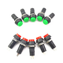 10pcs 2PIN Plastic 12mm Push Button Latching Momentary Switch 3A 150V Red green