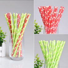 25pcs/lot Flower Paper Drinking Straws Creative Colorful Drinking Straw Wedding Birthday Party Decor Supplies Disposable Straws