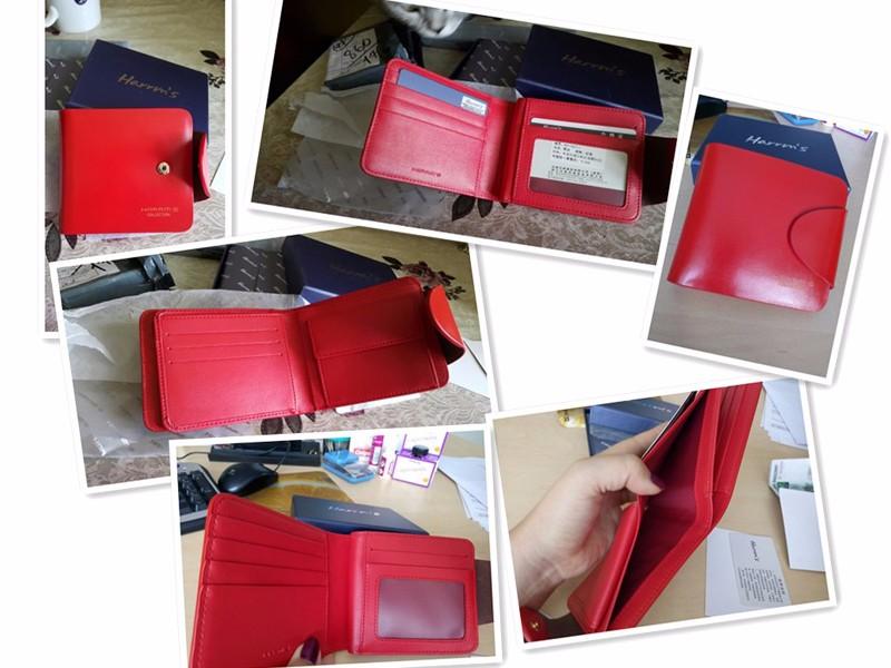 HTB1KzPYKVXXXXX5XXXXq6xXFXXX6 - Harrm's Brand Classical Fashion genuine leather women wallets short red blue Color female lady Purse for women with coin pocket
