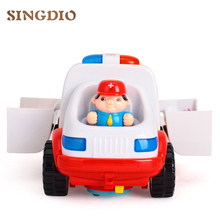 Hot Sales 836 Ambulance Baby Simulation Toys Brinquedos Bebe Electrical Vehicle Toy Carrinhos e Cia Baby Toys Early Learning(China)