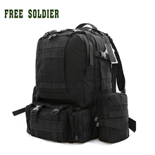 FREE SOLDIER Outdoor Sports Camping Tactical Backpack For Hiking Traveling Combination Backpack Mountaineering Molle Bag