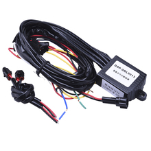 Car Led Daytime Light Auto ON/OFF DRL Controller Wire Auto With Flash Reduce Light And Synchronous Steering Function(China)