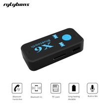 rylybons Car USB Bluetooth Aux Adapter Receiver Audio Aux Bluetooth Handsfree Car Kit A2DP Stereo Mp3 Music Receiver(China)