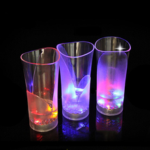 1 Piece Birthday Party Celebration LED Plastic Luminous Cup Water Induction Flash Light Cups Festival Luminescence Cups