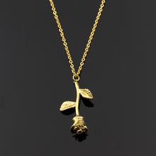 2018 Stranger Things Rose Flower Statement Necklace Women Stainless Steel Gold Chain Choker Collier Jewelry Graduation Collares(China)