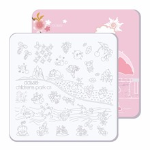 Buy CICI&SISI Nail Stamper Plate Nails Art Image Stamp Stamping Plates Manicure Template Pedicure Kit Tools Children Park 01-04 for $5.15 in AliExpress store