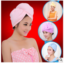Towel New 2015 25x65cm Microfiber Magic Drying Turban Wrap Towel/Hat/Cap Hair Dry Quick Dryer Bath Salon Towels