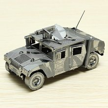 Piececool 4WD Military Automobile US Hummer P036-S DIY Toy 3D Laser Cut Models Puzzle For Kids Gifts