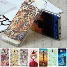 GerTong TPU Pattern Case For Samsung Galaxy A5 2016 A3 A7 j3 j5 j7 j1 Mini S6 S7 Grand Prime Full Body Phone Cover Shell