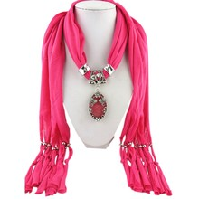 Women Scarf Charms Scarfs Fashion Design Water Drop Necklace Pendant Jewelry pendants Scarves