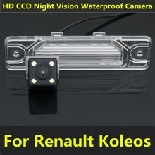 For Renault Koleos 2009 2010 2011 2012 2013 2014 Car CCD Night Vision 4LED Backup Rear View Camera Waterproof Parking Assistance
