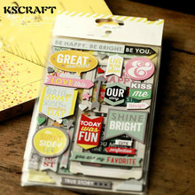KSCRAFT Be Happy 3D Die Cut Self-adhesive Stickers for Scrapbooking Happy Planner/Card Making/Journaling Project(China)