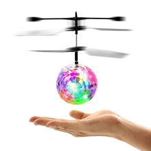 Induction Fly Flash Ball Toys USB Charging Remote Control RC Helicopter Flying Quadcopter Drone Fairy Doll Best Kids Gifts Toys(China)