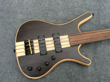 Custom shop High quality  bass guitar;Fretless 4 string model with Black hardware;Free shipping