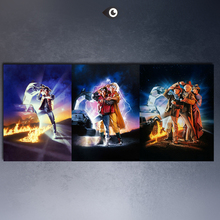 BACK TO THE FUTURE 1,2,3 CAR Movies arts canvas print Giclee poster for wall decoration painting(China)